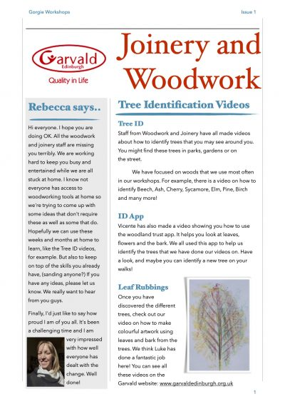 Newsletter Issue 1 Page 1